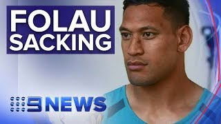 Rugby To Sack Israel Folau Over Homophobic Comments | Nine News Australia