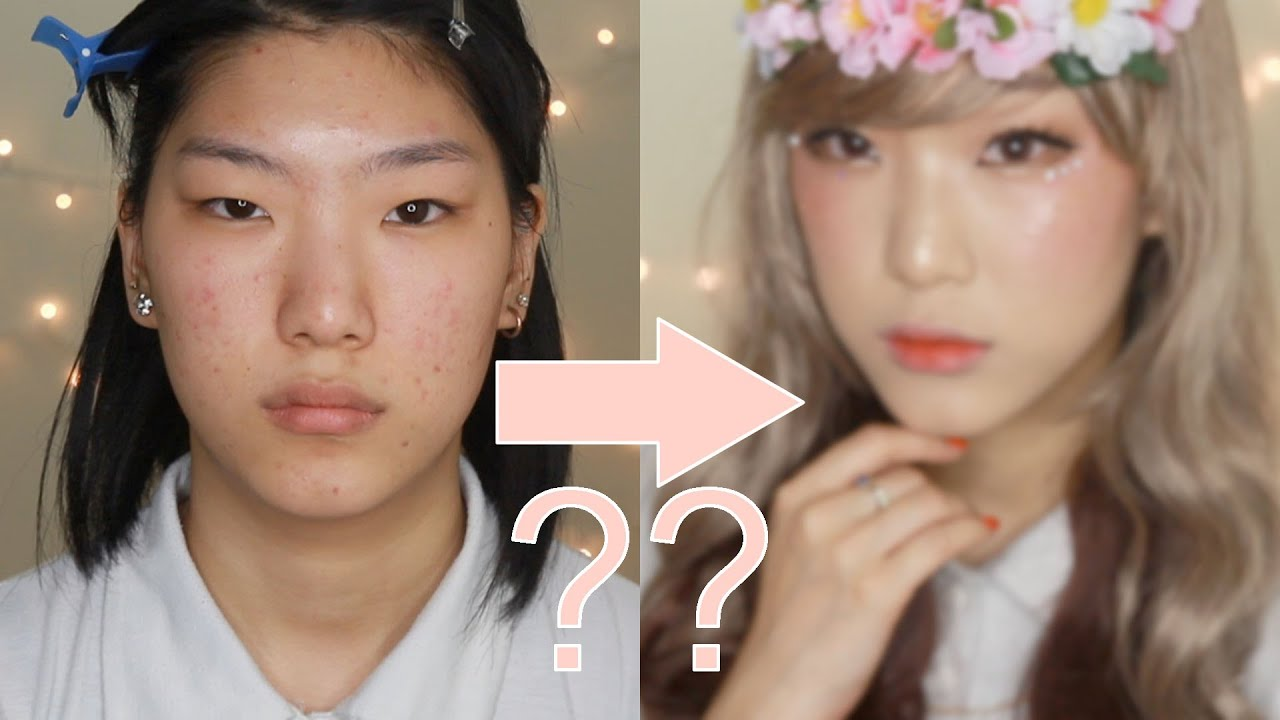 Transformation Kawaii Japanese Gyaru Doll Makeup Tutorial
