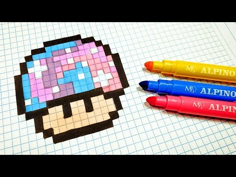 Handmade Pixel Art How To Draw A Cow Pixelart Youtube