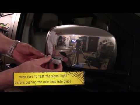 2008 Dodge Caravan sideview mirror turn signal lamp replacement