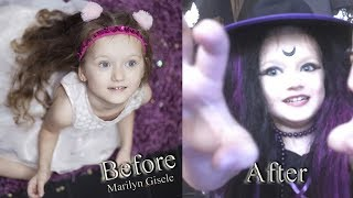 Gothic Witch HALLOWEEN PARTY for Kids Makeup Tutorial! Costume Outfit Idea & Hair! | Kate Claudia ✔