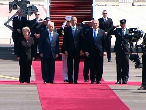 President Obama Speaks at an Arrival Ceremony in Israel