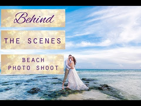 Behind The Scenes Photoshoot. Beach Photo Shoot Cancun, Playa Del Carmen.