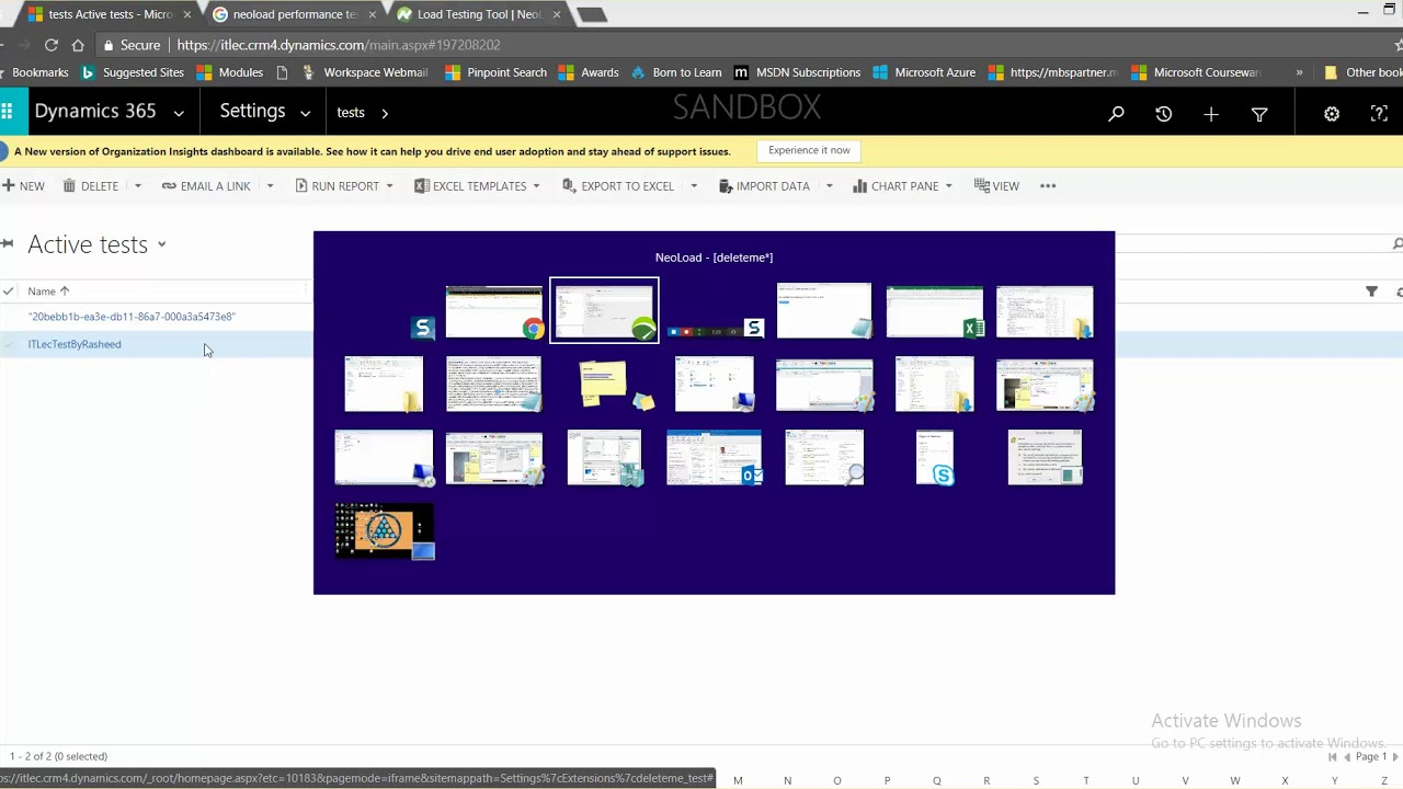 Your First Step To Test MS Dynamics 365 Using NeoLoad