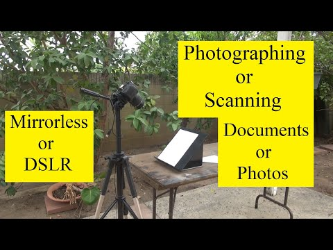 Scanning Documents using Tripod, Digital Camera, and Book Holder or Music Stand