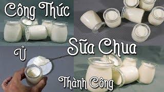 Tự Làm Sữa Chua Tại Nhà Dễ Hay Khó ? | Vietnamese Homemade Yogurt Recipe