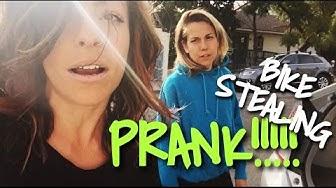 BIKE THIEF PRANK w/ Ali Spagnola and Stevie Boebi