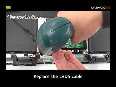 TV) The screen noise (LVDS cable)