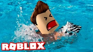 I DRO IN ROBLOX ! Flood Escape Roblox English