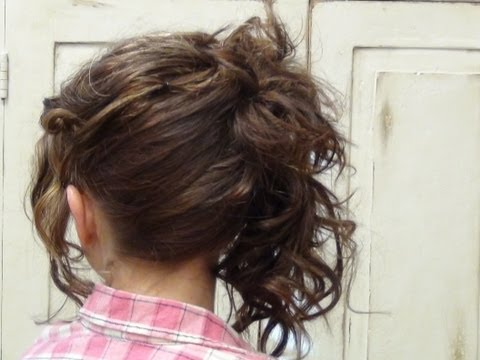 How To Do Side Layered Easy Updo Hairstyles Tutorial