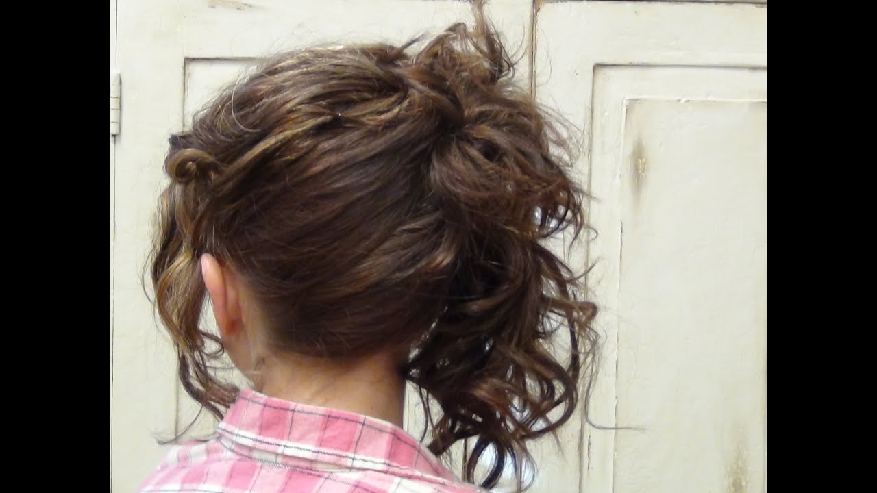 How To Do Side Layered Easy Updo Hairstyles Tutorial Youtube