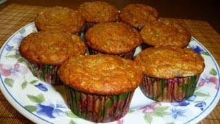 Muffins, Pastelillos de Banana y Avena
