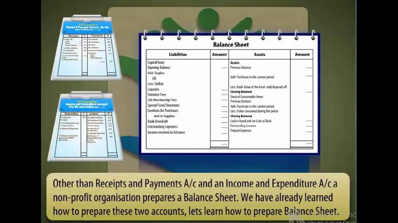 Not For Profit Organisation Balance Sheet