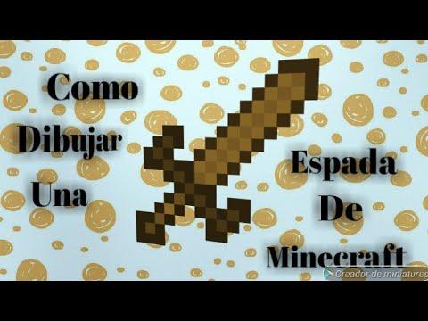 Como dibujar una espada de madera de minecraft  YouTube