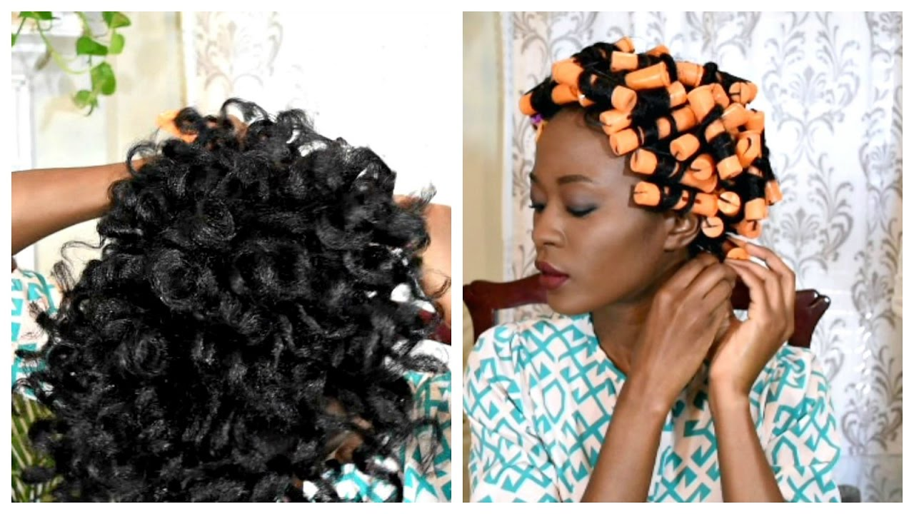 How To Use Perm Rods On Long Natural Hair