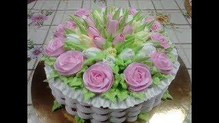 Свадебная корзинка тортик номер 1