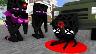 Monster School: Poor Baby Enderman Life Bad Family (Sad story but happy ending)- minecraft animation