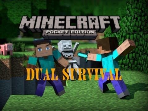 Minecraft Pocket Edition Dual Survival (Ep2) - The Voice Crack