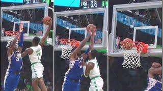 Jaylen Brown Weirdest Dunk in NBA History, Joel Embiid CAN'T BELIEVE IT