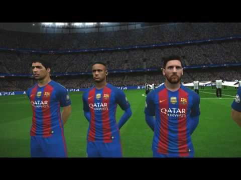 Barcelona vs PSG Champions League 16/17 Superstar PES 17 Gameplay PC