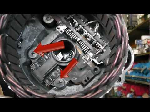 Mitsubishi alternator repair / brush change. Fits Pajero, Kia,Pegeot and  many more. - YouTubeYouTube