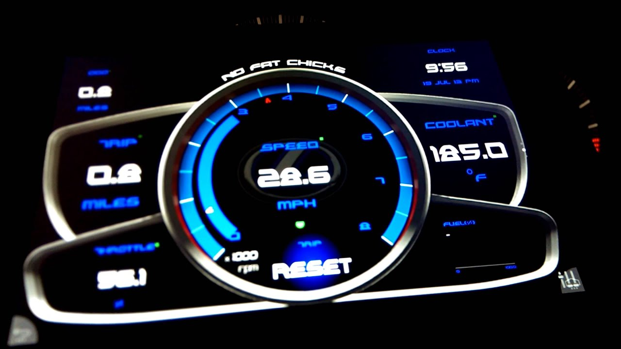 Digital Gauge Cluster : Digital gauge cluster youtube