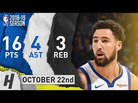 Klay Thompson Full Highlights Warriors vs Suns 2018.10.22 - 16 Pts, 4 Ast, 3 Reb!