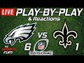 Eagles vs Saints | Live Play-By-Play & Reactions