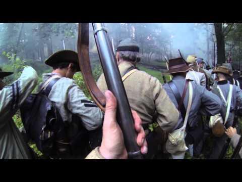 Culp's Hill. BGA 150th Gettysburg Reenactment