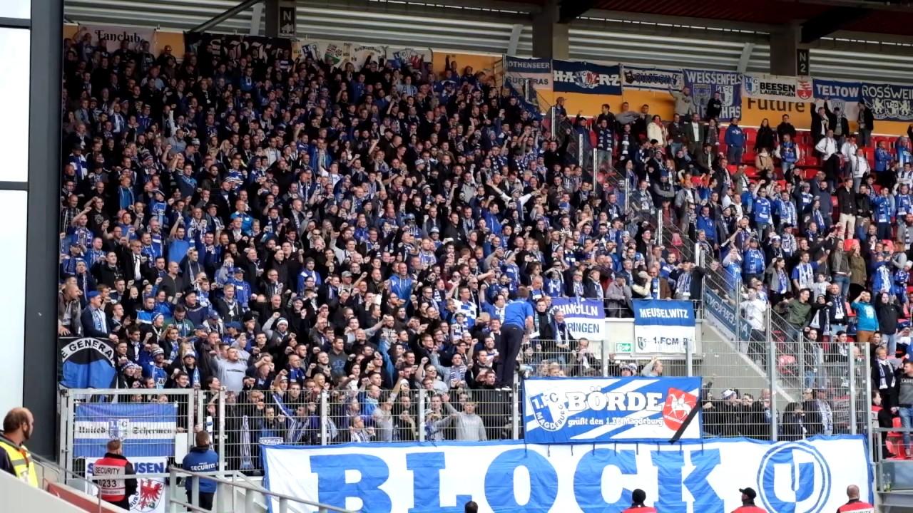 SSV Jahn Regensburg - 1.FC Magdeburg : Stimmung/Support - YouTube