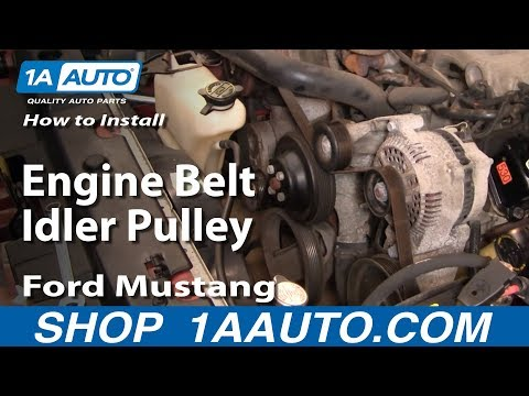 How to Replace Idler Pulley 96-10 Ford Mustang - YouTube