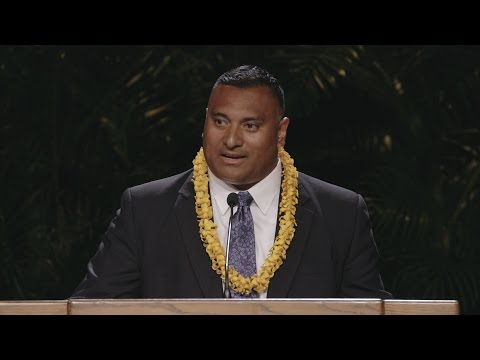 Mango seeds, Heisman trophies: BYU Football fireside with Ty Detmer and Kalani Sitake in Laie