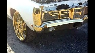 "1970 Custom Ford Galaxy on 26"" Gold Forgiatos"