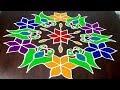 New Colourful Parrot Rangoli Design 13 x 7  || Latest Parrot Kolam Design || Fashion World