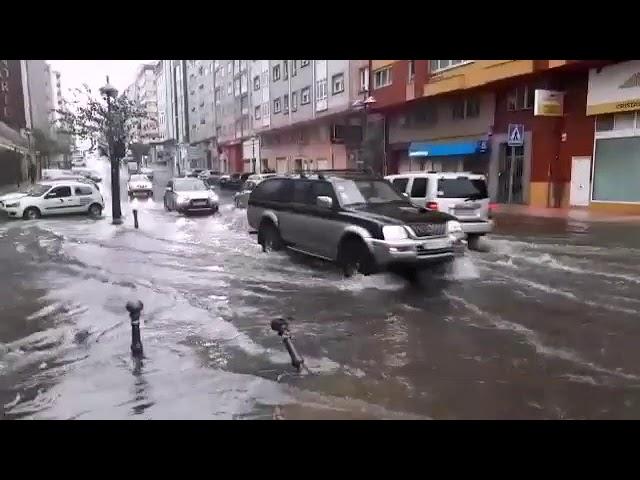 La borrasca Ana inunda Lugo