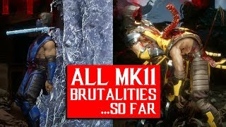 Mortal Kombat 11 - Every Brutality So Far And How To Do Them