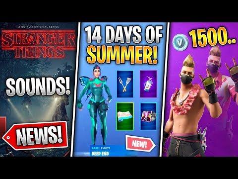 14 Days of Summer, Free Rewards, Unvault Daily, Drift v2, Stranger Things Leaks! (Fortnite News)