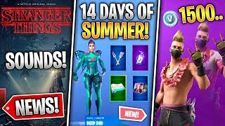 14 Days of Summer, Free Rewards, Unvault Daily, Drift v2, Stranger Things Leaks! (Fortnite Nouvelles)
