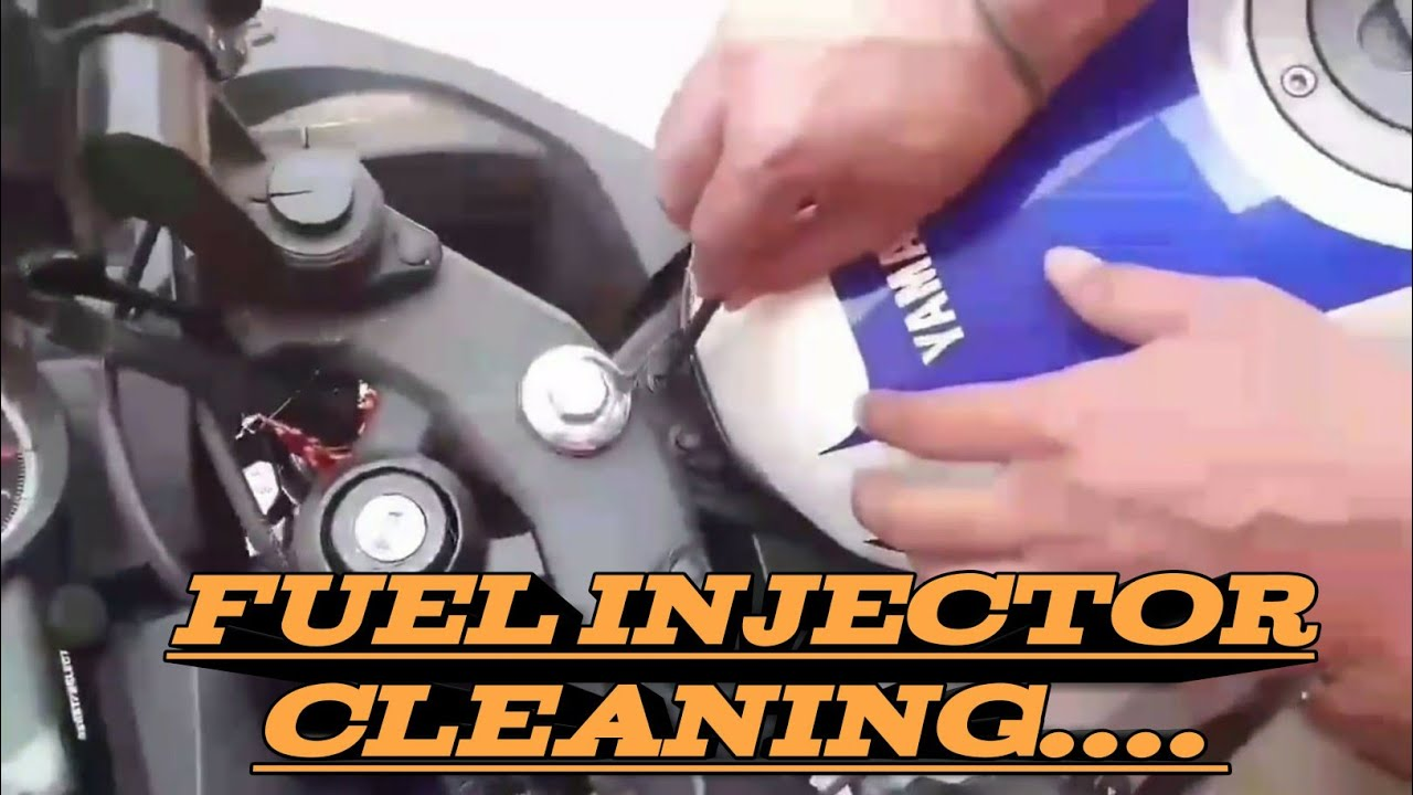 How To Clean Fuel Injector Of Yamaha R15 Youtube
