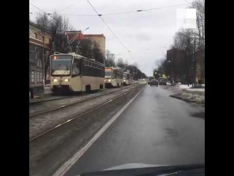 Видео Ярославль: встали трамваи