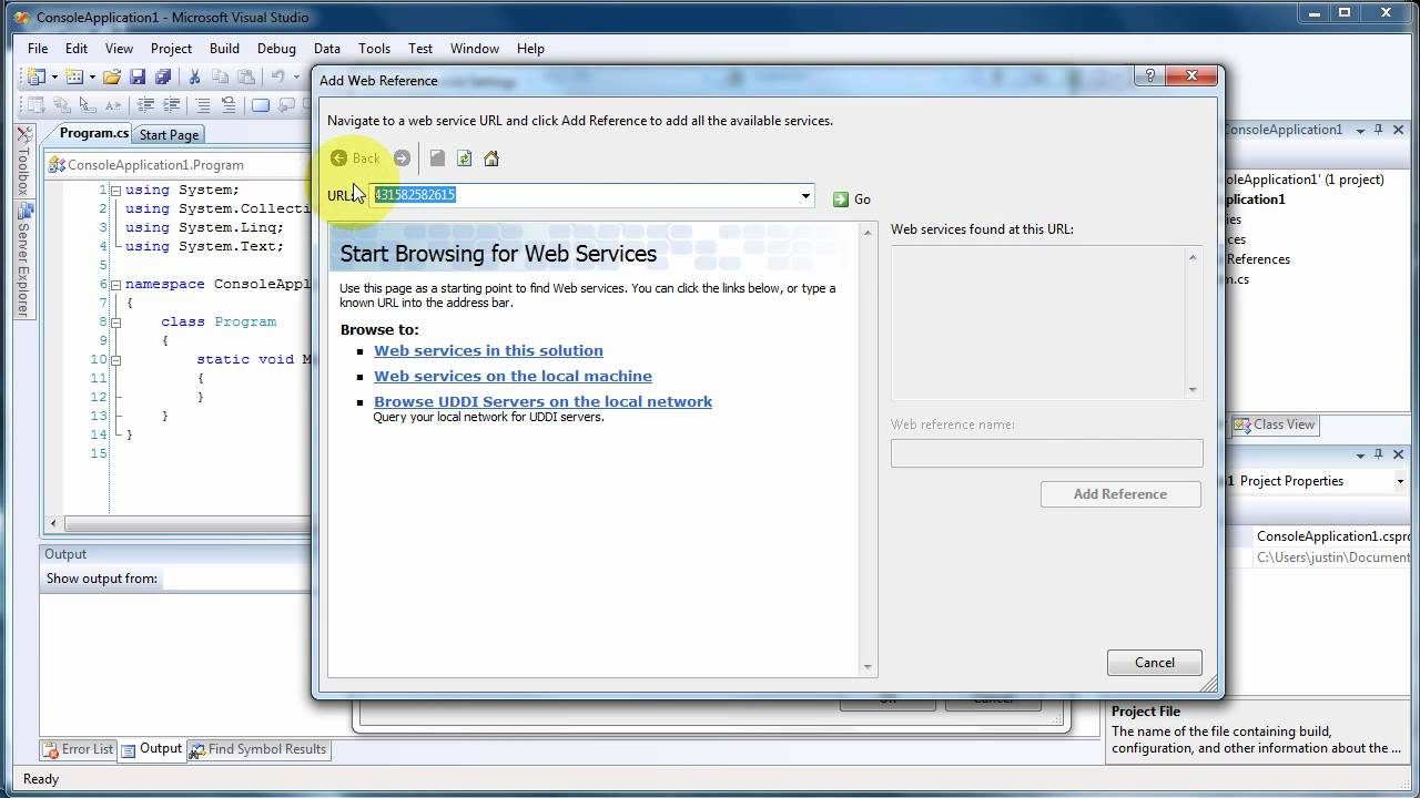 Create and use asp. Net web service in visual studio 2008 youtube.