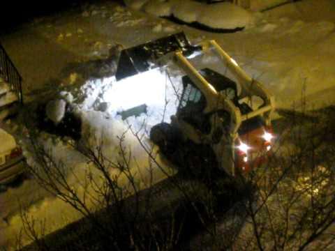 Snow Shoveling After the Storm - Bobcat Construction Vehicle 12