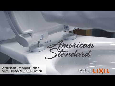 How To Install A Toilet Seat: 5055A & 5055B Models By American Standard