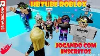 Hbtube Roblox, spielt mit den Abonnenten.