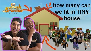 How Many Roblox Subs Can We Fit in our Tiny AdoptME House Live? | FreshBrownie