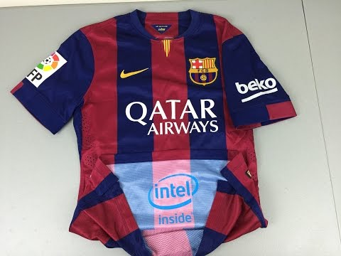 Review and Comparison of 2014-2015 Authentic and Replica FC Barcelona Home Jerseys