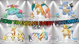 How To Evolve Evęry Pokemon From 1st Gen