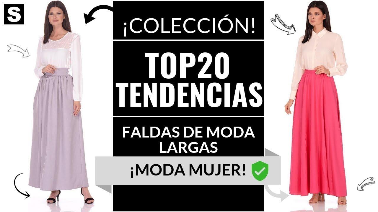 83c8f69019 FALDAS LARGAS DE MODA ¡MODA 2019! - YouTube