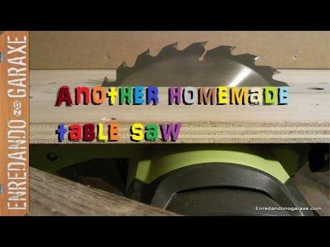 Nueva sierra de mesa casera con la sierra circular make a - Mesas de television ...