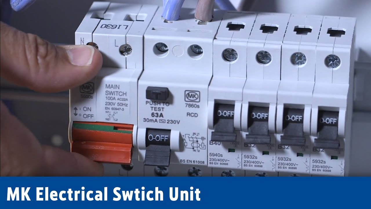 Mk Electrical Switch Unit Screwfix Youtube Split Load Consumer Wiring Diagram